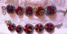Palestinian embroidery cross stitch tatreez bracelet. Price $20