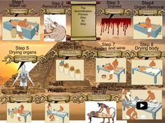 5 Best Images of Mummification Process Step By Step - Mummification Process Steps, Mummification Process Steps and Ancient Egypt Mummification Process Steps Mummification Process, Ancient Egypt History, Steps Design, English Resources, Project Board, Ancient Civilizations, I School, Design Process, Kids Learning
