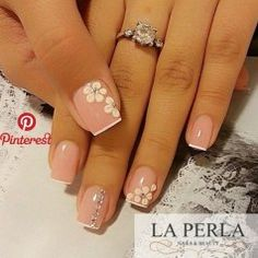 best ideas for nails french pedicure pink Nail Manicure, Toe Nails, Pink Nails, Manicure Ideas, Bridal Nails, Wedding Nails, Gorgeous Nails, Pretty Nails, Nagellack Trends