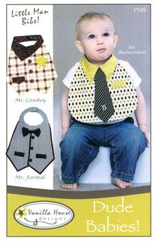 Baby bib patterns Dude Babies or Monster by craftconnoisseur, $6.99
