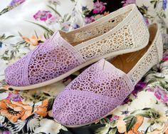 Custom Crochet Pastel Ombre TOMS Shoes