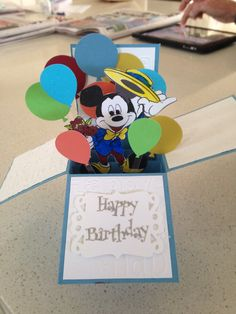 Mickey Mouse pop up box