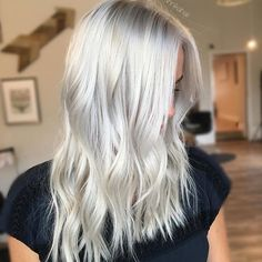 She seriously has the healthiest blonde hair ever. We touched up her roots and toned her all over. I used @joico 10BA and 10A with 10VOL to give her that perfect icy white tone!
