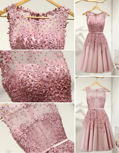 Lovely Junior Round Neckline Sleeveless Lace Appliques Sweetheart Keyhole Back Homecoming Dresses, Junior Homecoming Dresses, Prom Party Dresses, Evening Dresses, Long Sleeve Backless Dress, Tea Length Bridesmaid Dresses, Reception Gown, Festa Party, Affordable Dresses, Tulle