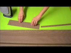 Kurzy šitia - Striháme jednoduchú nákupnú tašku 1.časť - YouTube