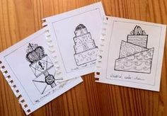 sketch a concept design for your wedding cake