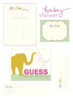 Printable baby shower games    Check out Laurie, Tip Junkie's, blog with lots of cute FREE printable baby shower games!! :)