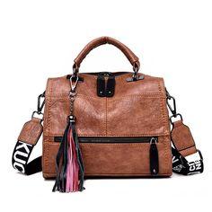 Vintage Real Leather Tassel Luxury Handbag Women Bags Designer Handbags High Quality Ladies Hand Bags For Women 2019 Bolsa Source by Bags shoulder Luxury Handbags, Purses And Handbags, Designer Handbags, Leather Handbags, Cheap Handbags, Cheap Purses, Popular Handbags, Cheap Bags, Ladies Handbags