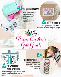 Holiday Gift Guide for Paper Crafters    http://shop.catherinepooler.com/ #cardmaking #papercrafting #catherinepooler #giftgiving #giftguide