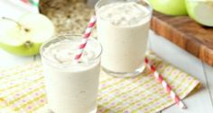 Green Apple Cookie Butter Oatmeal Smoothie