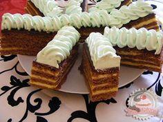 Zsuzsi szelet Hungarian Recipes, Hungarian Food, Best Food Ever, Something Sweet, Cake Cookies, Kids Meals, Tiramisu, Waffles, Cheesecake