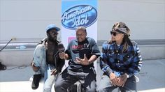 HustleTV Talks With The REJ3CTZ At The American Idol Auditions In Los An...