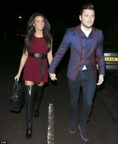 Michelle Keegan looked both stunning and festive when she celebrated Boxing Day at fiancé Mark Wright's mum's house in Essex. Michelle Keegan Style, Long Brunette Hair, Mark Wright, Boxing Day, Tweed, Punk, Formal, Celebrities, Hair Styles
