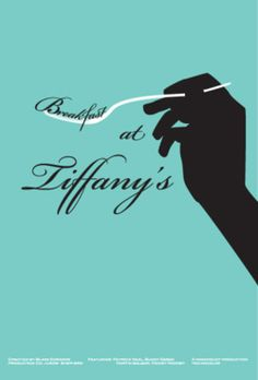 Minimal Movie Posters: Breakfast at Tiffany's