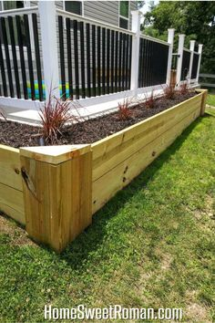Cheap Raised Garden Beds, Raised Patio, Building A Raised Garden, Raised Planter, Easy Garden, Garden Ideas, Raised Gardens, Flower Bed Edging, Raised Flower Beds