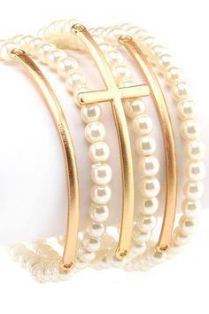 Stretch Cross Bracelet
