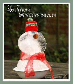 Do you wish it would snow so you can make a SNOWMAN for CHRISTMAS? Well it doesn't have to - with this FUN and CUTE no-snow snowman by PaulaBurns