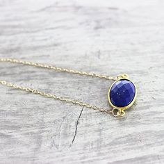 """Lapis Lazuli Gemstone Gold Fill Necklace - 18"""" Length ** Learn more by visiting the image link."""