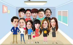 Watch 11 Korean celebrities live and laugh together in the new variety show Roommate
