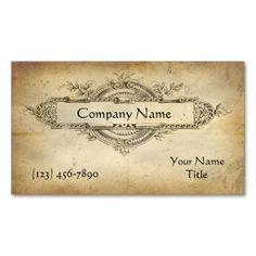 Business cards calling cards vintage calling cards custom antique medallion business card reheart Images