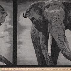 Elephant Tapestry Black & White 150 cm