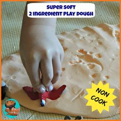 Super soft 2 ingredient play dough