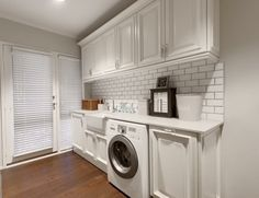 Country style laundry with white ceramic laundry sink. http://www ...