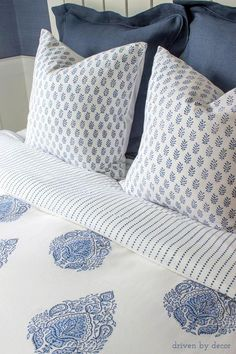 Beautiful handblocked bedding from Kalyana Textiles It's reveal day! Come on over and let me show you all of the Before and Afters of my daughter's new modern coastal bedroom! Coastal Bathrooms, Coastal Living Rooms, Modern Coastal, Coastal Decor, Coastal Rugs, Coastal Lighting, Coastal Farmhouse, Coastal Furniture, Coastal Curtains