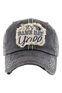 591e6256 It's Game Day Y'all Vintage Distressed Baseball Cap