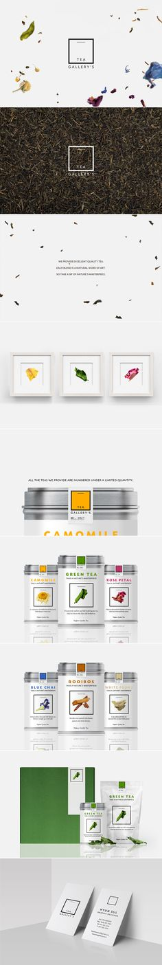 [ Tea Gallery's ] [ Credit: Hyun Sul ] [ Graphic Design, Identity Design, Logo Design, Package Design, Art Direction, Branding ]