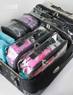 Amazing Suitcase Organization! — Tips including how to pack for your whole family in one suitcase and free printable checklists for best packing practices.