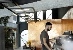 Gallery of Black Drop Coffee Shop / ark4lab of Architecture - 24