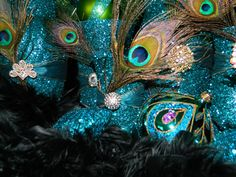 : Beautiful Peacock Ornaments Decoration - Best Source of DIY Home Improvement Peacock Christmas Decorations, Peacock Ornaments, Peacock Decor, Peacock Theme, Peacock Wedding Centerpieces, Reception Decorations, Purple Wedding, Wedding Flowers, Dream Wedding
