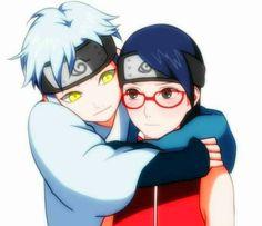 Mitsuki and Sarada