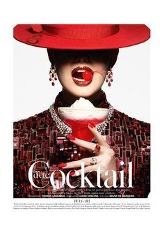 Thomas Lagrange photographs 'Cocktail' for Vogue Paris. June/July 2014... I wanna do this for a photo shoot