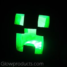 Creeping like a Creeper! Use Green Glow Sticks to create a Minecraft Creeper Pumpkin! - https://glowproducts.com/us/glowsticks