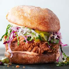 Fried Chicken Sandwiches with Slaw and Spicy Mayo Recipe