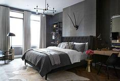 Estúdio Lorena Couto se inspira em:  quarto escuro, aconchegante, sofisticado com bancada