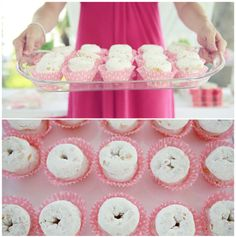 Serving Idea:  Cute way to serve donuts for a ladies brunch.