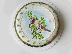 Le Torte di Pezzettiello e non solo...: (PDZ-SAP) Torta colorata con uccellini