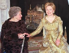 Lady Bird Johnson and Hillary Clinton, 2000  Celebrating the 200 Anniversary of the White House.