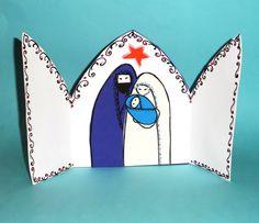 cartão presépio de Natal em EVA