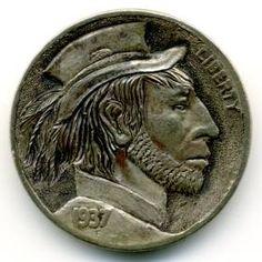 Steve Ellsworth - Rafael Montañas Hobo, Buffalo, Classic Style, Coins, Carving, Art, Art Background, Rooms, Wood Carvings
