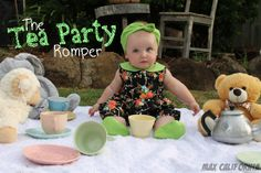 The Teaparty Romper by Max Max-California - cute vintage inspired remix!