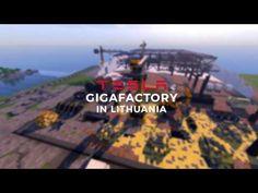 Minecraft Tesla Gigafactory in Lithuania - YouTube