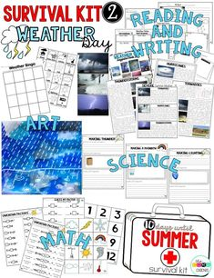 Do more than just keep students busy! Survive the last 2 weeks of school with the perfect end of year lesson plans that help kids count down to summer. Review grade level skills all while having a blast during the last 10 days of school! Kit includes Reading, Writing, Math, Science or STEM, and Art for every daily theme.
