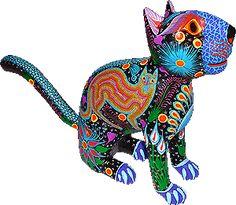 Alebrije #chat #alebrije #artisanat #mexicain #sculpture #cat #mexican