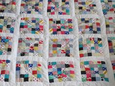 My Postage-Stamp Scrap Fabric Patchwork Quilt – so resourceful Patchwork Tiles, Patchwork Quilt Patterns, Scrappy Quilts, Quilt Patterns Free, Quilting Templates, Quilting Designs, Quilting Ideas, Fabric Scraps, Scrap Fabric
