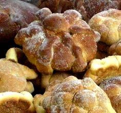 """With Day of the Dead fast approaching in Mexico, it's time to get your ingredients together for a traditional Pan de Muerto, meaning """"Bread of the Dead"""". Mexican Bread, Mexican Dishes, Mexican Food Recipes, Best Mexican Restaurants, Day Of The Dead Party, Bread Shaping, Just Desserts, Holiday Recipes, Baking Recipes"""