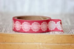 $1.99 Baton Rouge For Tea    Pink washi tape with white dollies.   #washi #washi tape #downtown tape